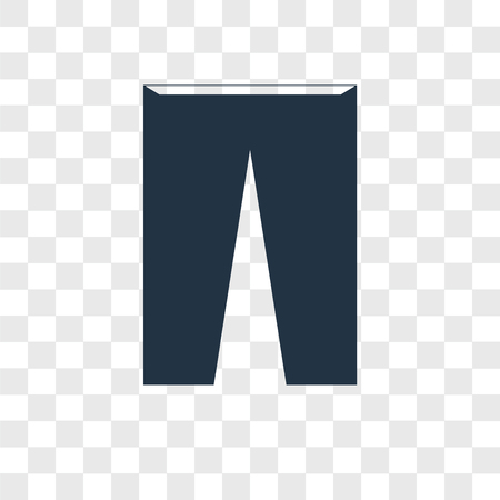 Trousers vector icon isolated on transparent background, Trousers logo concept