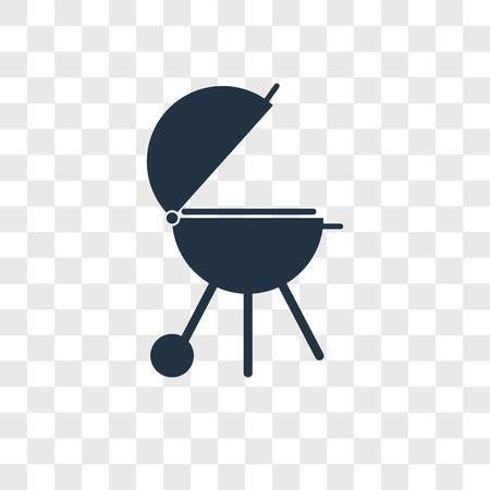 Icône de vecteur de grill barbecue isolé sur fond transparent, concept logo barbecue grill Logo