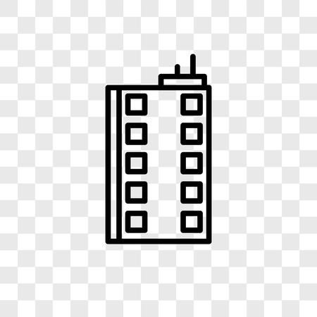Building vector icon isolated on transparent background, Building logo concept Foto de archivo - 107694271