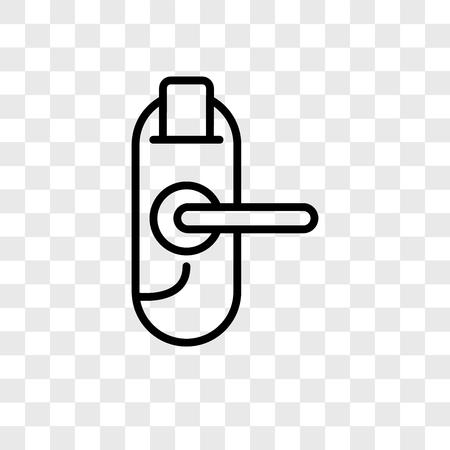 Door key vector icon isolated on transparent background, Door key logo concept Stock Illustratie