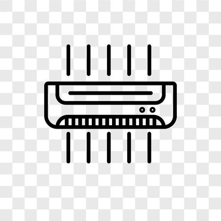 Air conditioner vector pictogram geïsoleerd op transparante achtergrond, Air conditioner logo concept Logo
