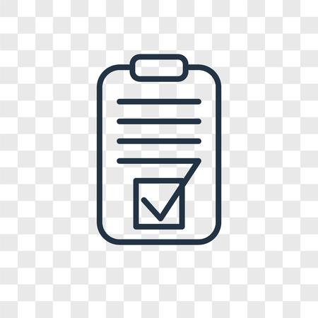 Icône de vecteur de test isolé sur fond transparent, concept logo Test