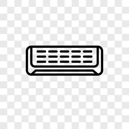 Air conditioner vector pictogram geïsoleerd op transparante achtergrond, Air conditioner logo concept