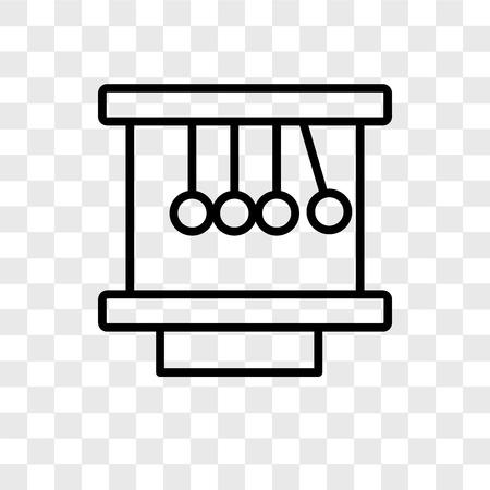 Icône de vecteur de berceau de Newton isolé sur fond transparent, concept de logo de berceau de Newton
