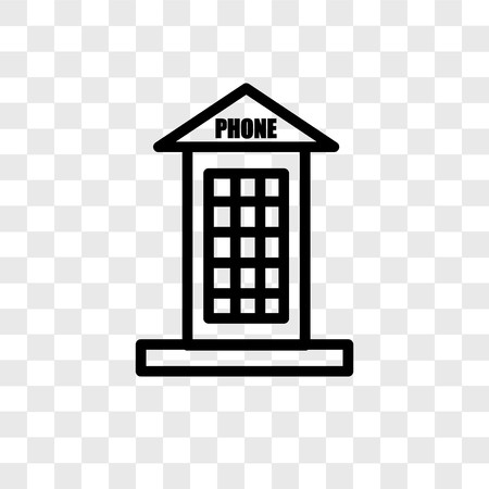 Phone booth vector icon isolated on transparent background, Phone booth logo concept Stock Illustratie
