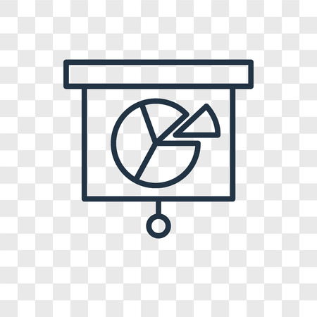 Analytics vector icon isolated on transparent background, Analytics logo concept  イラスト・ベクター素材