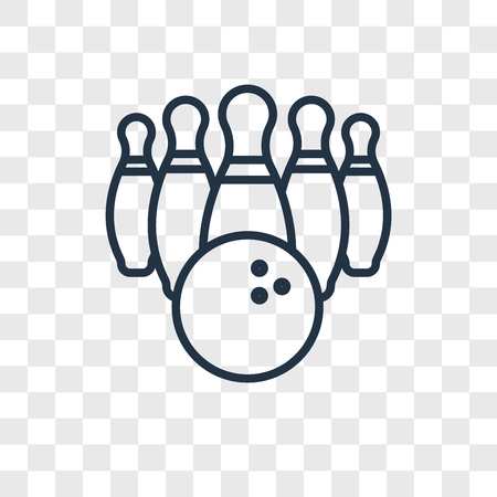 Bowling vector icon isolated on transparent background, Bowling logo concept  イラスト・ベクター素材