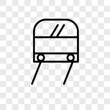 Subway vector icon isolated on transparent background, Subway logo concept Banco de Imagens - 107694064