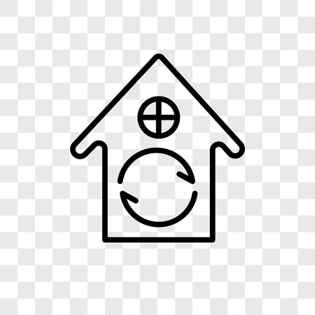 House vector icon isolated on transparent background, House logo concept Ilustrace