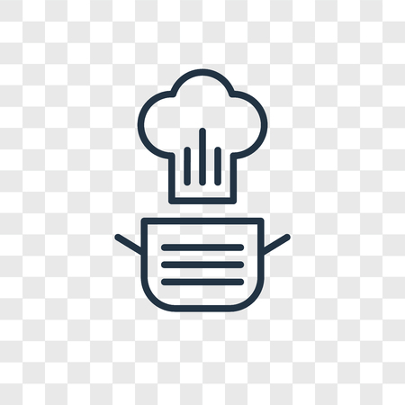 Cooking vector icon isolated on transparent background, Cooking logo concept Illustration