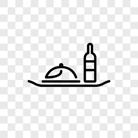 Room service vector icon isolated on transparent background, Room service logo concept
