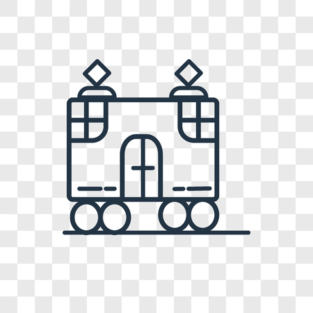 Tram vector icon isolated on transparent background, Tram logo concept Illustration