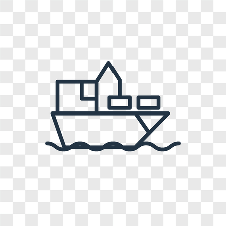 Ship vector icon isolated on transparent background, Ship logo concept