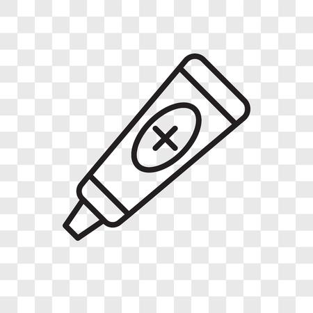 Icône de vecteur de pommade isolé sur fond transparent, concept logo pommade Logo