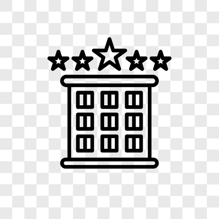 Hotel vector icon isolated on transparent background, Hotel logo concept Banque d'images - 107693816