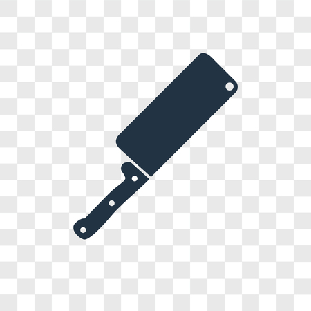 Knife vector icon isolated on transparent background, Knife logo concept