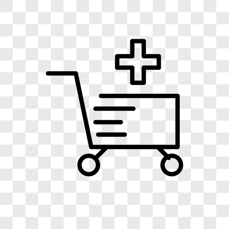 Cart vector icon isolated on transparent background, Cart logo concept Archivio Fotografico - 107693835