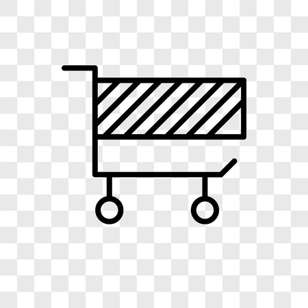 Cart vector icon isolated on transparent background, Cart logo concept Archivio Fotografico - 107693690