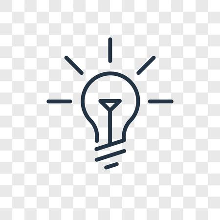 Ideenvektorikone lokalisiert auf transparentem Hintergrund, Ideenlogokonzept