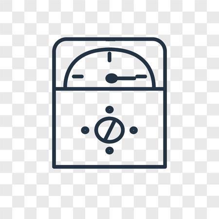 Voltmeter vector icon isolated on transparent background, Voltmeter logo concept Illustration