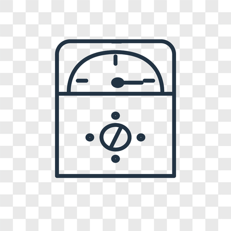 Voltmeter vector icon isolated on transparent background, Voltmeter logo concept Ilustrace