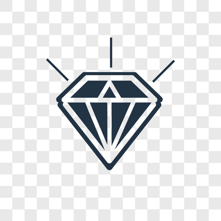 Diamond vector icon isolated on transparent background, Diamond logo concept Stock Illustratie