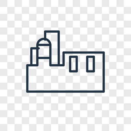 Factory vector icon isolated on transparent background, Factory logo concept Illusztráció