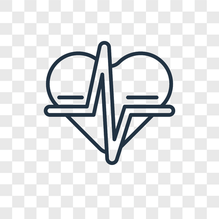 Heart rate vector icon isolated on transparent background, Heart rate logo concept