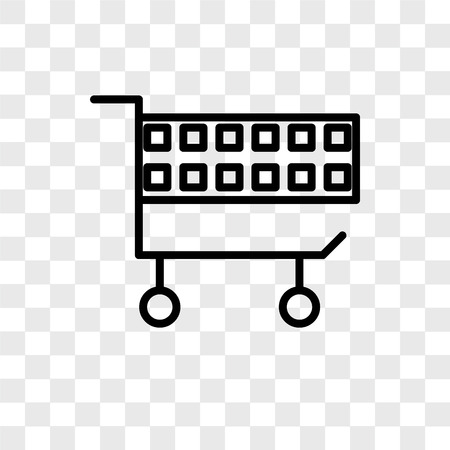 Cart vector icon isolated on transparent background, Cart logo concept Archivio Fotografico - 107692968