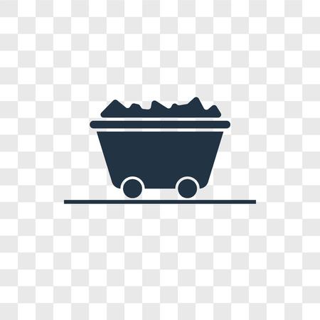 Ikona wektor węgla na przezroczystym tle, koncepcja logo węgla