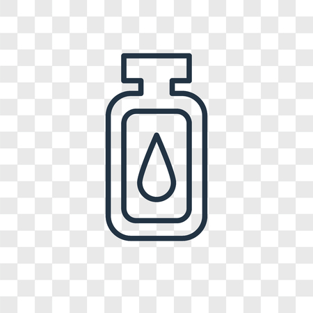 Oil vector icon isolated on transparent background, Oil logo concept