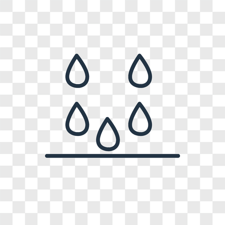 Drops vector icon isolated on transparent background, Drops logo concept Ilustração
