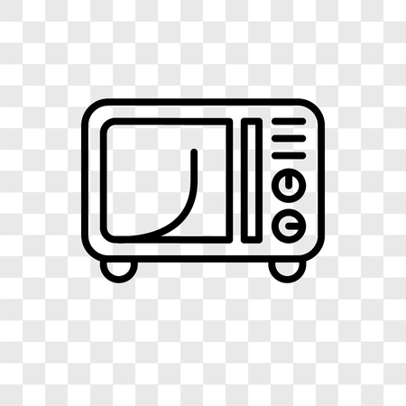 Microwave vector icon isolated on transparent background, Microwave logo concept