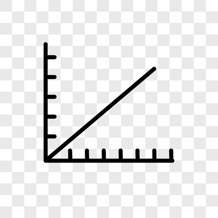Line graph vector icon isolated on transparent background, Line graph logo concept Иллюстрация