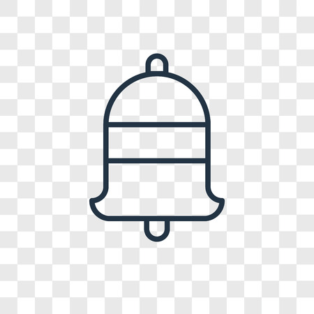 Bell vector icon isolated on transparent background, Bell logo concept