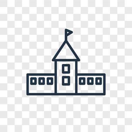 University vector icon isolated on transparent background, University logo concept Ilustração