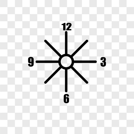 Clocks vector icon isolated on transparent background, Clocks logo concept