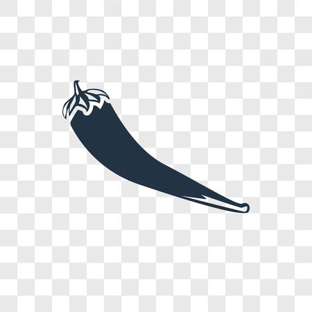 Pepper vector icon isolated on transparent background, Pepper logo concept Ilustração