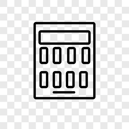 Calculator vector icon isolated on transparent background, Calculator logo concept Illusztráció