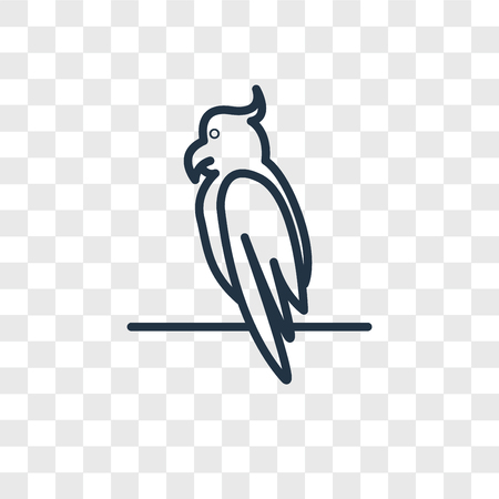 Parrot vector icon isolated on transparent background, Parrot logo concept