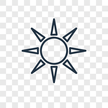 Sun vector icon isolated on transparent background, Sun logo concept