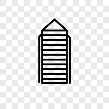 Skyscraper vector icon isolated on transparent background, Skyscraper logo concept