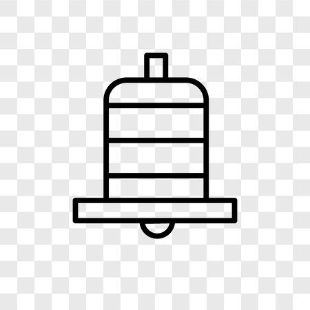 Bell vector icon isolated on transparent background, Bell logo concept 스톡 콘텐츠 - 107682447