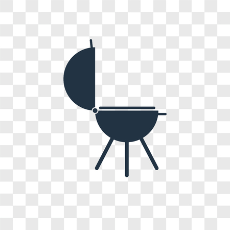 Grill vector icon isolated on transparent background, Grill logo concept Ilustracja