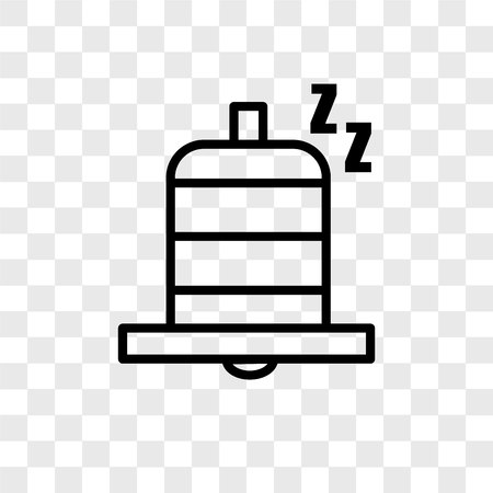 Snooze vector icon isolated on transparent background, Snooze logo concept Çizim