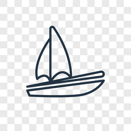 Sail vector icon isolated on transparent background, Sail logo concept