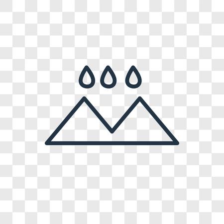 Rainy Landscape vector icon isolated on transparent background, Rainy Landscape logo concept