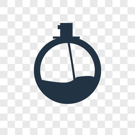 Icône de vecteur de parfum isolé sur fond transparent, concept logo parfum