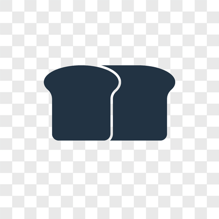 Bread vector icon isolated on transparent background, Bread logo concept Standard-Bild - 107682306