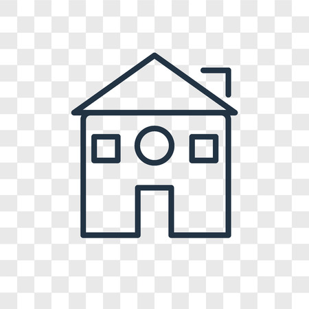 Home vector icon isolated on transparent background, Home logo concept  イラスト・ベクター素材